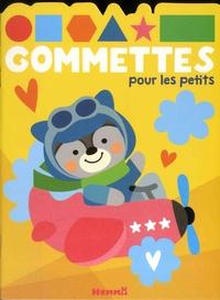 Hemma - Gommettes pour les petits - Avion.