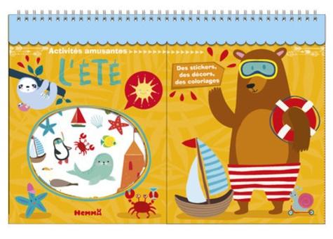 L'été. Des stickers, des décors, des coloriages