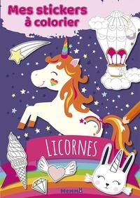 Hemma - Mes stickers à colorier Licornes.