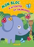 Hemma - Mon bloc d'activités et de coloriages - Elephant.