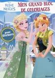 Hemma - Mon grand bloc de coloriages avec stickers La Reine des Neiges.
