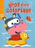 Hemma - Mon gros livre de coloriage 3-5 ans - Hippopotame.