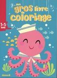 Hemma - Mon gros livre de coloriage 3-5 ans - Pieuvre.