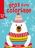 Hemma - Mon gros livre de coloriage Noël Ours blanc.