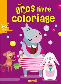 Mon gros livre de coloriage- Hippopotame -  Hemma | Showmesound.org