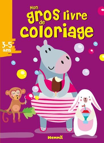 Mon Gros Livre De Coloriage Hippopotame Album