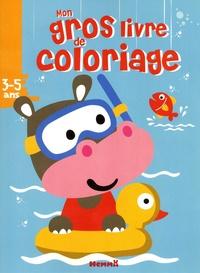 Hemma - Mon gros livre de coloriage - Hippopotame.