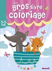Hemma - Mon gros livre de coloriage - Renard et loup.