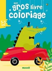 Hemma - Mon gros livre de coloriage - Croco voiture.