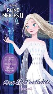 Hemma - Mon kit d'activités La Reine des Neiges 2 (Elsa robe blanche) - Avec 12 crayons de couleur, 1 bloc d'activités, 1 bloc de coloriages.