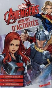 Hemma - Mon kit d'activités Marvel Avengers - 12 crayons de couleurs, 1 bloc de jeu, 1 bloc de coloriages.