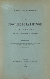 Henri Bourde de la Rogerie - La frontière de la Bretagne et de la Normandie près de l'embouchure du Couesnon.