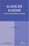 Henri Boyer - De l'autre côté du discours - Recherches sur les représentations communautaires.