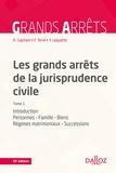 Henri Capitant - Les grands arrêts de la jurisprudence civile T1 - Personnes, famille, biens, régimes matrimoniaux, successions.