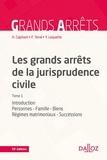 Henri Capitant et François Terré - Les grands arrêts de la jurisprudence civile - Tome 1, Introduction, personnes, famille, biens : régimes matrimoniaux, successions.