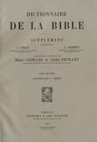 Henri Cazelles et André Feuillet - Supplément au Dictionnaire de la Bible - Tome 7, Pastorales - Pirot.