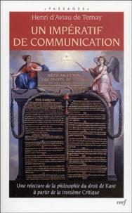 Un impératif de communication - Une relecture de la philosophie du droit de Kant à partir de la troisième Critique.pdf
