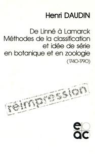 Accentsonline.fr Méthodes de la classification et idée de série en botanique et en zoologie (1740-1790) - De Linné à Lamarck Image