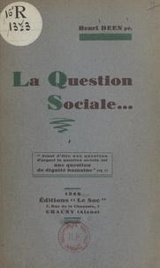 Henri Deen - La question sociale.