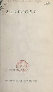 Henri Deluy - Passages.