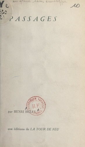 Henri Deluy - Passages.