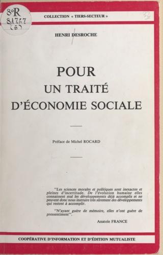 Pour un traité d'économie sociale
