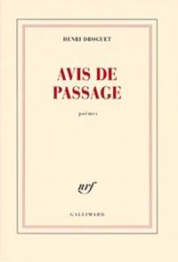 Henri Droguet - Avis de passage.