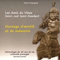 Henri Dupayrat - Ouvrage d'amitié et de mémoire - Chronologie de 50 ans de vie culturelle partagée (seconde partie).