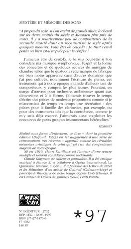 MYSTERE ET MEMOIRE DES SONS. Entretiens avec Claude Glayman, édition revue et augmentée