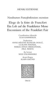 Henri Estienne - Nundinarum Francofordiensium encomium - Eloge de la foire de Francfort.