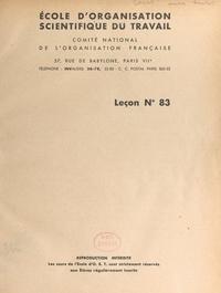 Henri Fayol et  Comité national de l'organisat - L'étude du marché - Leçon n° 83.