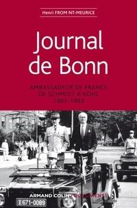 Henri Froment-Meurice - Journal de Bonn - Ambassadeur de France de Schmidt à Kohl 1982-1983.