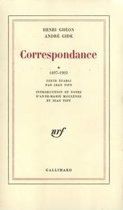 Henri Ghéon et André Gide - Correspondance.