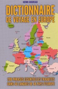 Histoiresdenlire.be Dictionnaire de voyage en Europe - 200 phrases essentielles traduites dans 40 langues de 48 pays d'Europe Image