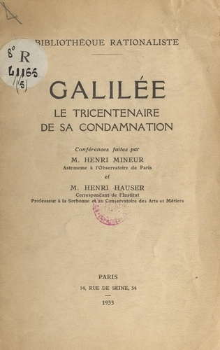 Galilée. Le tricentenaire de sa condamnation