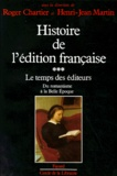 Henri-Jean Martin et Roger Chartier - .