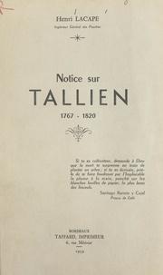 Henri Lacape - Notice sur Tallien, 1767-1820.
