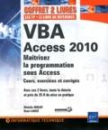 Henri Laugié et Michèle Amelot - VBA Access 2010 - Maîtrisez la programmation sous Acess : Cours, exercices et corrigés, Pack 2 volumes.