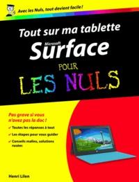 Henri Lilen - Tout sur ma tablette Microsoft Surface pour les nuls.