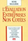 Henri Mauguière - L'évaluation des entreprises non cotées.