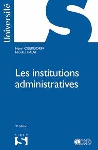 Téléchargement des ebooks au format pdf Les institutions administratives - 9e éd.
