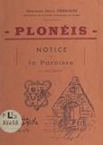 Henri Pérennès - Plonéis - Notice sur la Paroisse.