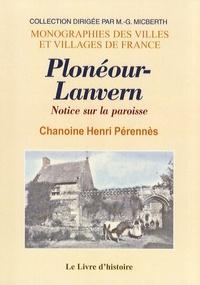 Henri Pérennès - Plonéour-Lanvern - Notice sur la paroisse.