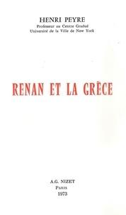 Henri Peyre - Renan et la Grèce.