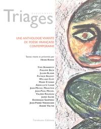 Henri Ronse - Une anthologie vivante de poésie française contemporaine - Supplément Triages.