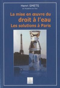 Deedr.fr La mise en oeuvre du droit à l'eau - Les solutions à Paris Image