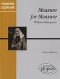 Henri Suhamy - Measure for measure de William Shakespeare.