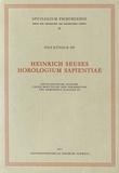 Henri Suso et Pius Künzle - Heinrich Seuses Horologium sapientiae.