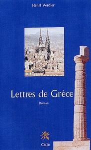 Henri Verdier - Lettres de Grèce.