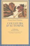Henry-David Thoreau - Couleurs d'automne.